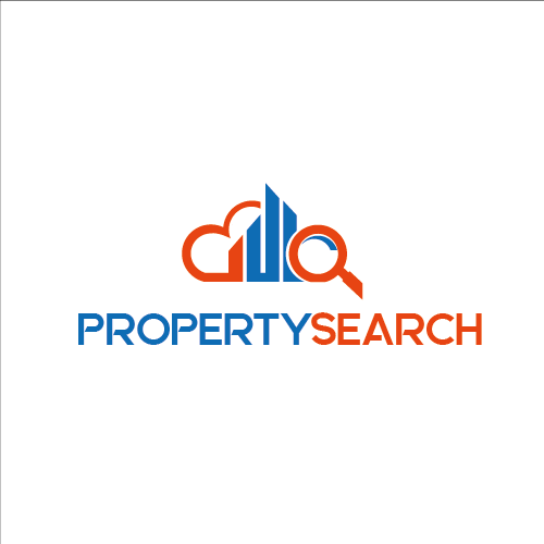 Property Search a realestate logo. Simple fonts and col